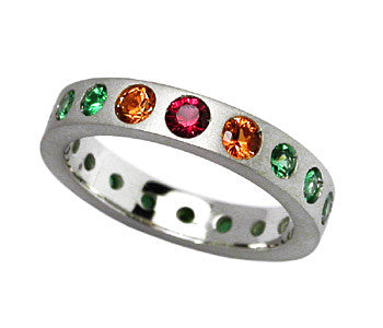 Multicolor Garnet Ring
