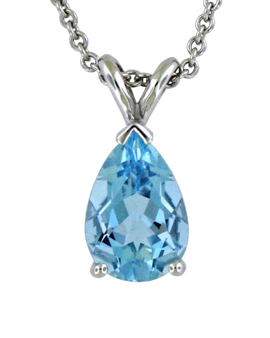 Pear Shaped Aquamarine Pendant