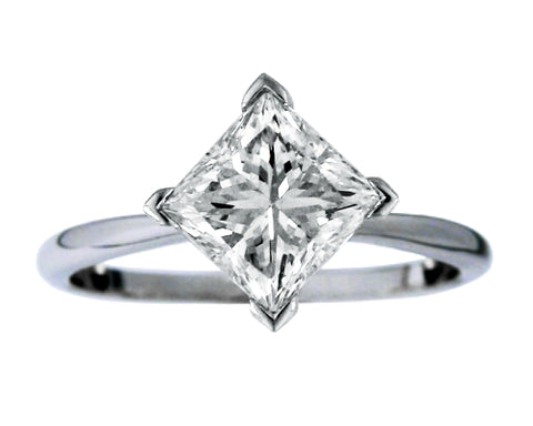 Diagonal Princess Cut Solitaire