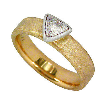 Rough Diamond Triangle Ring