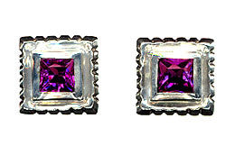 Square Ottoman Stud Earrings