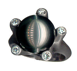 Sculptural Tahitian Pearl Ring