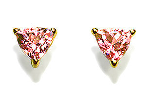 Triangular Fancy Sapphire Stud Earrings
