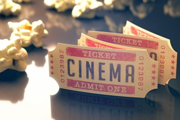 The Moviegoer: Pack of 10 Discount Movie Passes + Popcorn (Save 10%)