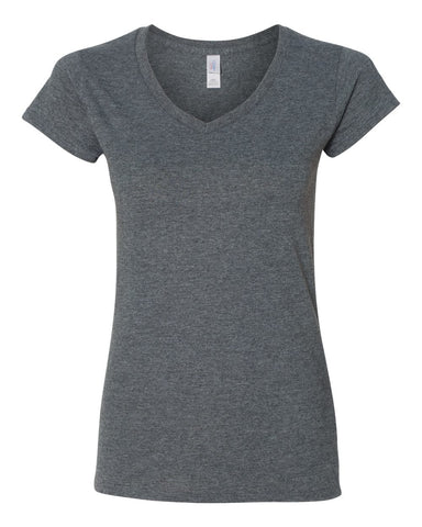 Cotton Ladies Cut V-Neck