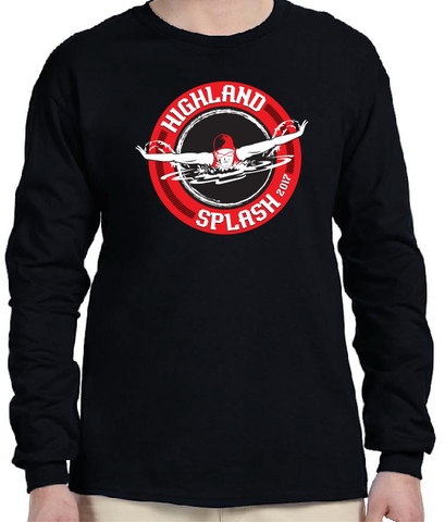 Highland Splash cotton long sleeve tee - NO PERSONALIZATION