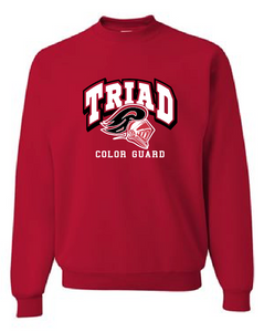Red Crewneck - Triad Color Guard