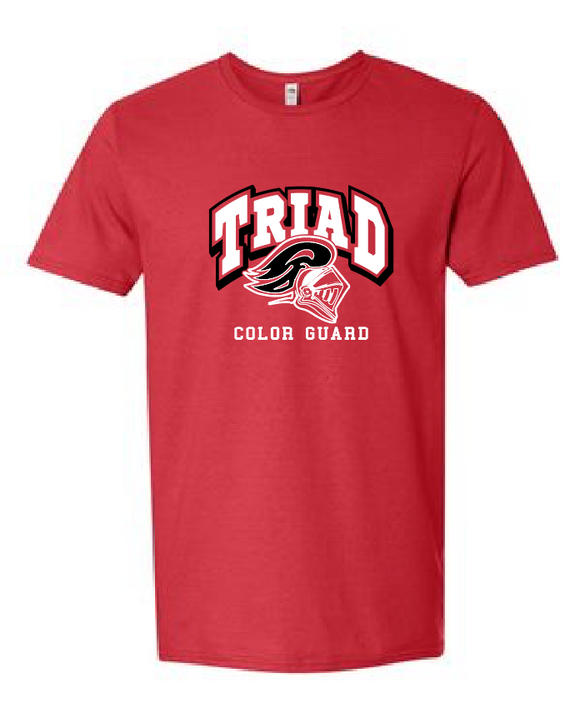 Red Short Sleeve Tee - Triad Color Guard