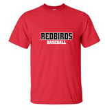 Redbirds Baseball - Red Cotton Tee