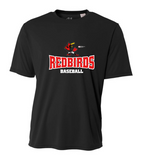 Redbirds Baseball - Black Drifit Tee