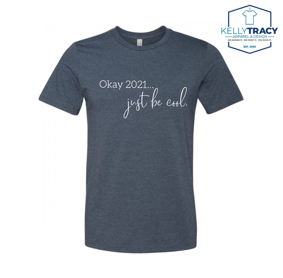 2021 Be Cool Heathered Navy Tri-blend