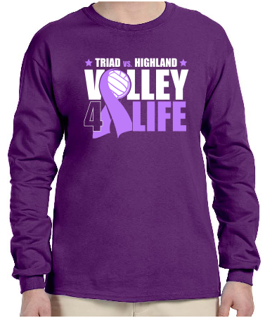 Volley 4 Life long sleeve tee -Not Personalized