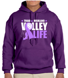 Volley 4 Life Hooded Sweatshirts -Not Personalized
