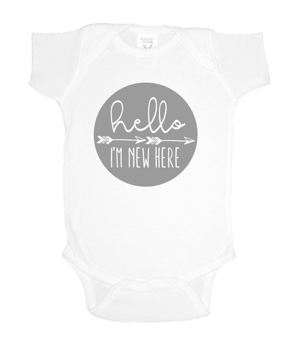 Hello, I'm New Here Onesie [color options]