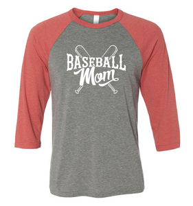Baseball Mom 3/4 Sleeve Tee