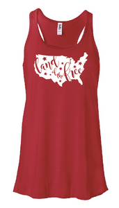 Land of the Free Flowy Tank