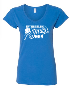 Ladies Cut V-Neck - Smash MOM