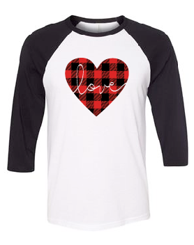 Buffalo Plaid Love Heart