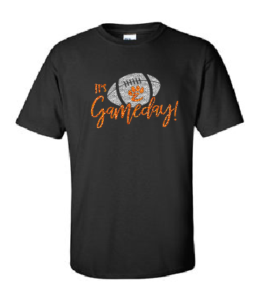 It's Gameday - Glitter Cotton Tee