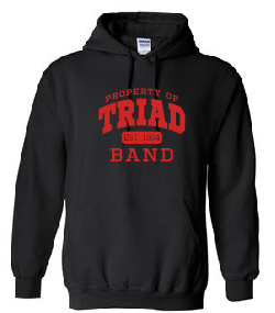 Hoodie - Triad Band [athletic logo]