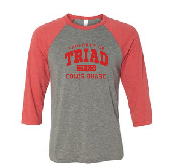 Baseball Sleeve Tee - Triad Color Guard