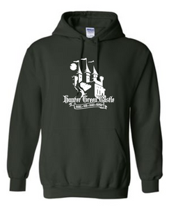 Cotton Hoodie - THS Hunter Green Castle