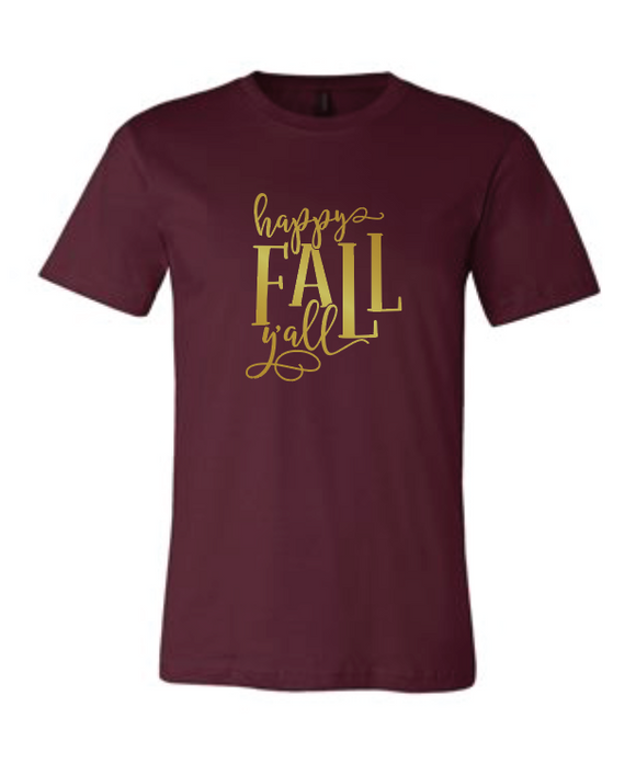 Happy Fall Y'All - Bella Tee