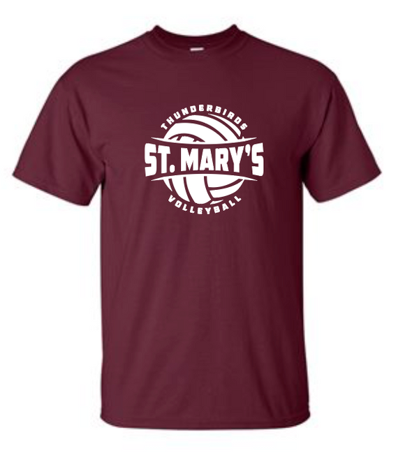 St. Mary's Volleyball - Cotton T-Shirt
