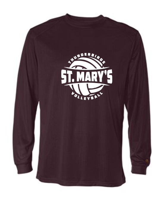 St. Mary's Volleyball - Drifit Long  Sleeve