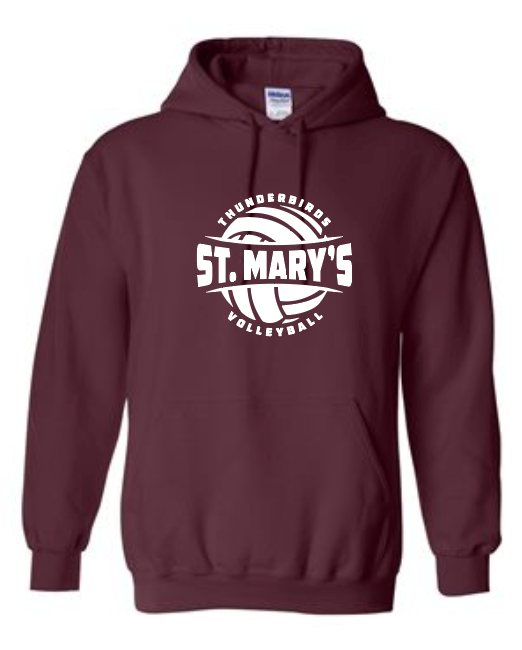 St. Mary's Volleyball - Cotton Hoodie