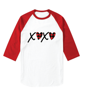 XOXO Heart 1 - Baseball Sleeve