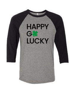 Happy Go Lucky - Baseball Sleeve