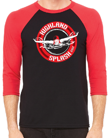 Highland Splash 3/4 sleeve raglan cotton tee - NO PERSONALIZATION