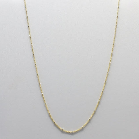 CH25-G Sterling Silver Chain With Gold Plated