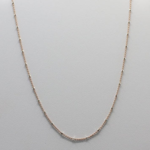 CH25-R Sterling Silver Chain With Rose Gold Plated