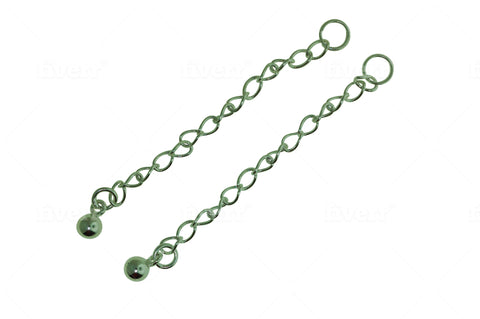 Sterling Silver Extension Chain 2 inches 5 or 10 Pcs
