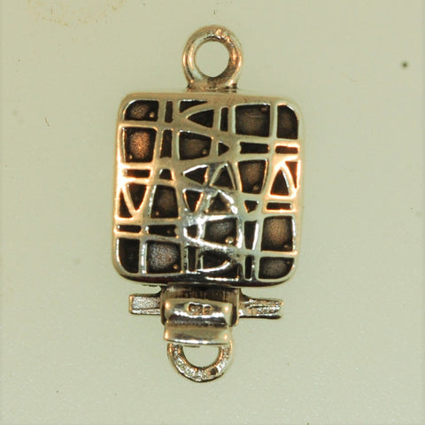 Boxs1- Sterling Silver Square Box Clasp