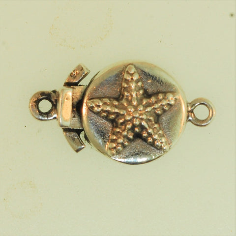 Boxs9- Sterling Silver StarFish Box Clasp