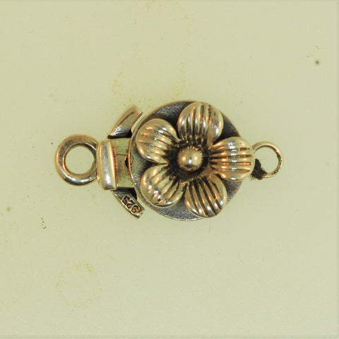 Boxs012 - Sterling Silver Small Flower Box Clasp