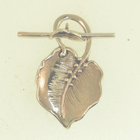 TG003 -Sterling Silver Leaf Toggle Clasp