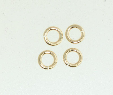 Gold Filled jump ring. 5 mm Open and Closed jump ring.