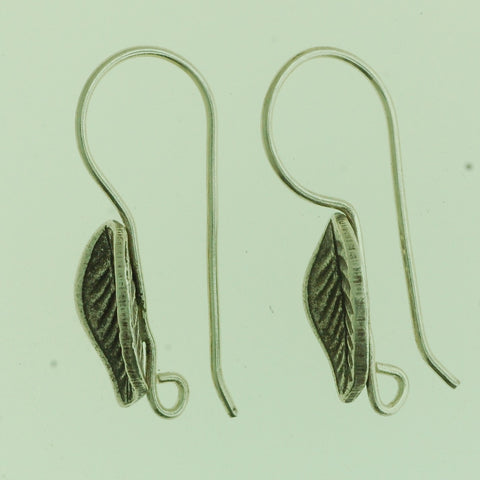 HEW01 - Hill Tribe Silver Leaf Earring Wire