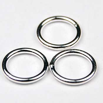 Sterling Silver Jump Ring- Soldered Jump Ring 6 Sizes Available 4,5,6,7,8,10 mm