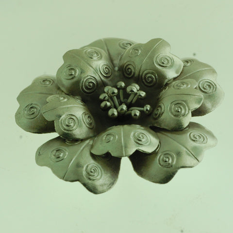 PS02- Hill Tribe Silver Rose Pendant With Design