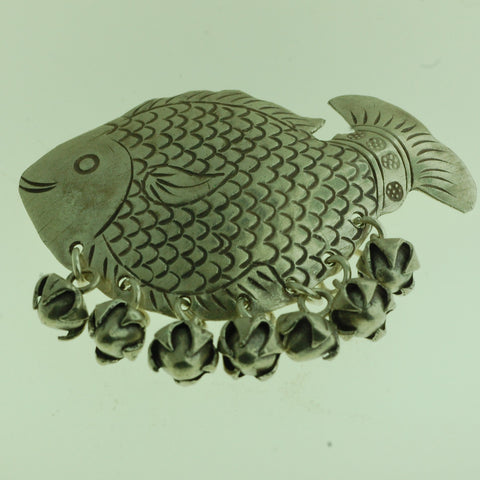 PS03- Hill Tribe Silver Fish Pendant