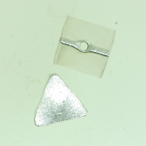 SB017 - Hill Tribe Silver  Bead Triangle Shape