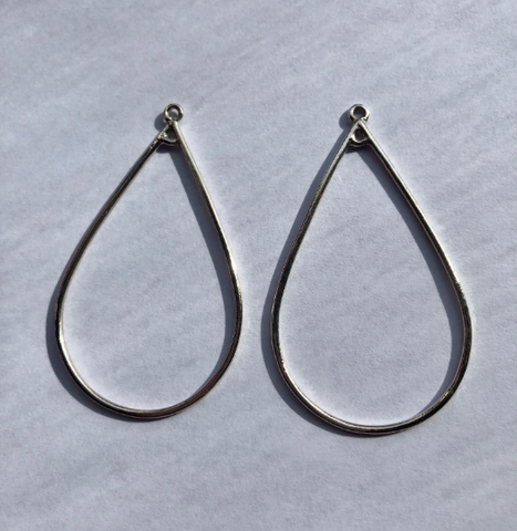 Earring Hoop Components, Sterling Silver Earring Hoop, 2 sizes available.