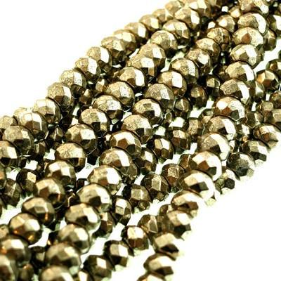 Faceted Pyrite Beads