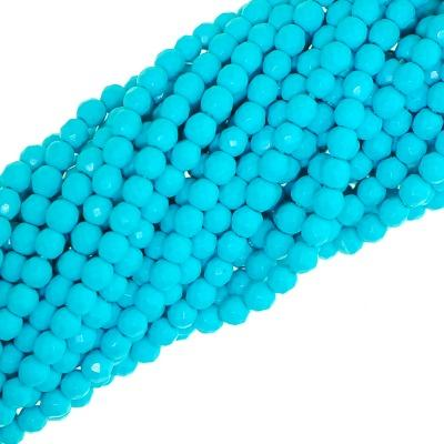 Faceted Round Turquoise gemstone beads