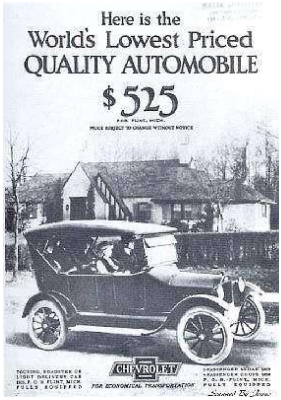 And the very first factory installed car radios also appeared when Chevrolet offered a Westinghouse radio for it's 1922 model year as a $200 option ($2,734 in 2016 dollars and almost half the price as the car itself!)